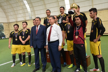 GGİ-nin futbol komandası I Spartakiadanın qalibi oldu
