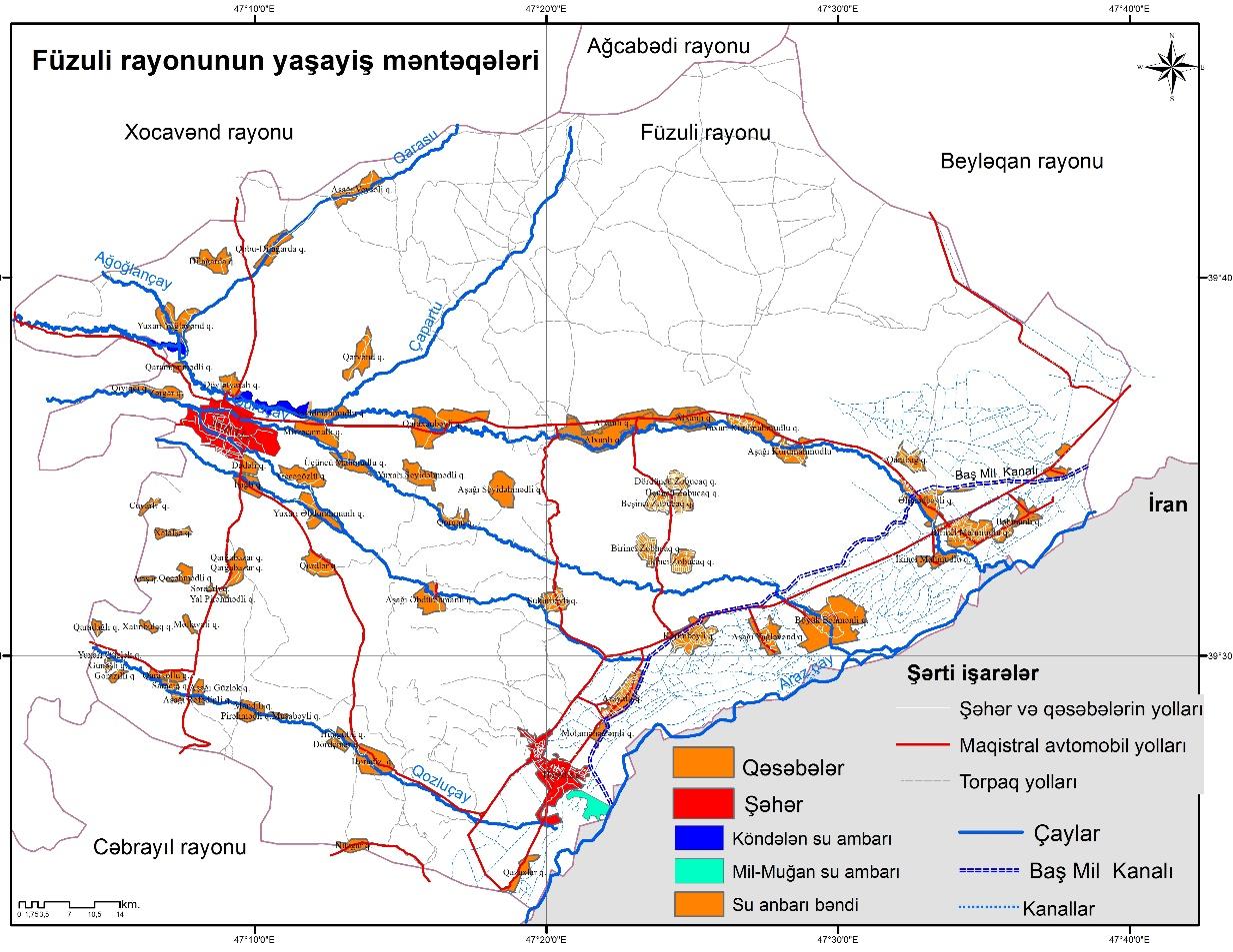 Coğrafiyaçi alimlər Füzuli rayonunun iqtisadi potensialını araşdırırlar