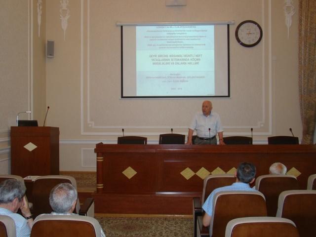 """Geologiya və Geofizika İnstititunda """"Geomexanika"""" növbəti seminarı keçirildi"""